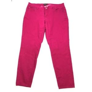Forever 21+ Plus Hot Pink Slim Skinny Leg Jeans